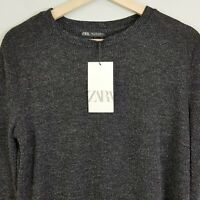 [ ZARA ] Womens Long Sleeves Knit Buttoned Dress NEW | Size S or AU 10 / US 6