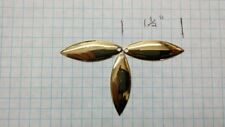 blades 24 ct/gold willow leaf blades #3 1/2 size gold