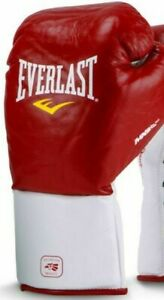 Everlast MX Pro Fight 10 Oz Boxing Gloves Red & White FITNESS MMA BAG PADs UFC