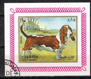 Sharjah Emirate Fauna Pets Dog Tackson Souvenir Sheet 1972