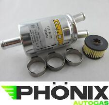 Autogas Filter-Set Valtek-Einsatz + Gasfilter Y-12mm + Normfest Schellen KME LPG