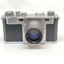 Nikon S 35mm Rangefinder Film Camera Nippon Kogaku Nikkor HC 50mm f/2 Lens OFFER