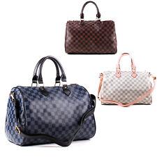 Womens Checked Cross Body Bag Tote Bag Hobo Shopper Shoulder Bag Designer Bag