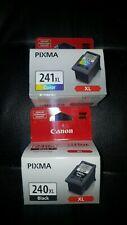 NEW CANON PIXMA Ink CARTRIDGES 240XL Black, 241 XL Color