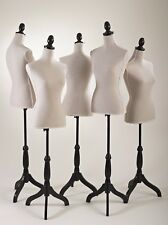 1 Female Mannequin Torso Dress Form Display Adjustable Black Tripod Stand 35-66""