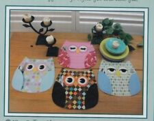 PATTERN - Who's Place - owl place mats PATTERN - Susie C Shore