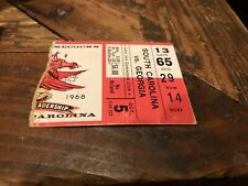 1968 NCAA GEORGIA BULLDOGS @ SOUTH CAROLINA GAMECOCKS FOOTBALL TICKET STUB