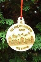 Personalised Christmas The Year Of Lockdown Bauble Decoration Xmas Gift - Birch