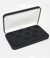 Black Felt COIN DISPLAY GIFT METAL PLUSH BOX holds 9-Quarters or Presidential $1