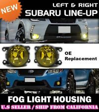 YELLOW Fog Lights for SUBARU XV CROSSTREK FORESTER JDM OE Replacement (PAIR)