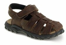 Stride Rite Brown Leather Closed Toe Sandals Youth Boys Size 2 M