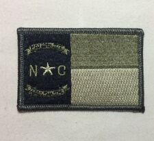 North Carolina NC State Flag Patch Velcr O Style Hook Backing Subdued OD Green