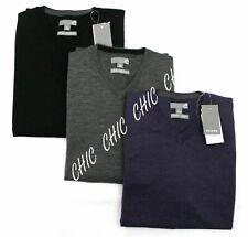 Mens Sears Branded 100% Pure Merino Wool V Neck Sweater Jumper Pullover