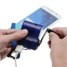 Portable Hand Crank Dynamo Wind Up Cell Phone Travel Emergency USB Charger