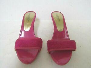 Authentic DOLCE&GABBANA Terry Cloth Wooden Slides/Sandals Size EU 36 US 5