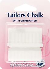 Hemline White Colour Tailors Chalk With Sharpener Haberdashery Sewing Supply
