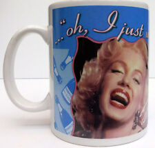 "MARILYN MONROE COFFEE MUG,""I JUST WANT TO BE WONDERFUL"" VANDOR CO.ITEM#70064"