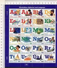 36452) Marshall Isl. 1998 MNH Marshallese Alphabet S/S