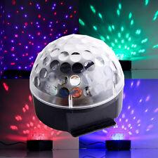 Discokugel DJ Lichteffekt Kugel LED RGB Licht Projektor Beleuchtung Party Disco