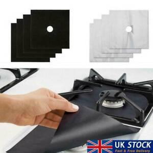 4Pcs Gas Stove Kitchen Accessories Mat Cooker Protectors Cover Pad Washable  UK