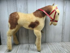 Rare Antique 1950s Horse Pony Mohair 8 inches