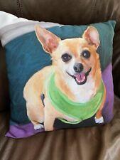 Chihuahua 14 X 14 Dog Pillow By Robert McClintock