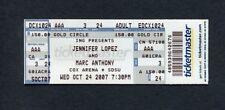 2007 Marc Anthony Jennifer Lopez Concert Ticket San Diego SDSU I Need To Know