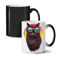 Hippie Glasses Cool Cat NEW Colour Changing Tea Coffee Mug 11 oz   Wellcoda