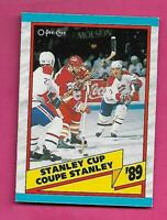 1989-90 OPC # 329 CANADIENS / FLAMES STANLEY CUP  NRMT+  CARD (INV# C3246)