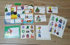 1980s Christmas Gift Tags Stickers & Window  Stencils Vintage