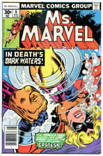 MS MARVEL #8, VF+, Jim Mooney, Claremont, 1977, Bronze age, more Marvel in store
