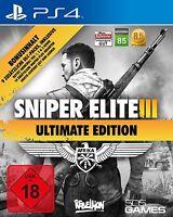 Sniper Elite III Afrika Ultimate Edition PS4 Neu+in Folie