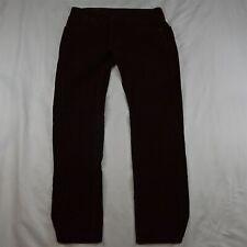 Levi's 30 x 32 Maroon Red Corduroy 502 Regular Taper Cords Pants