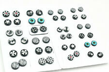 LOT24pairs Clip On No Ear Hole Magnetic Magnet Mix Logos  Ear Stud Earring NEW