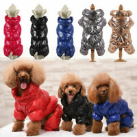 Pet Dog Clothes Winter Windproof Waterproof Jumpsuit Puppy Cat Warm Coat Apparel