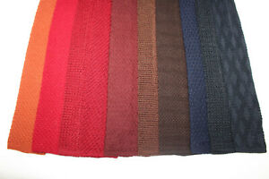 LOT OF 10 LARGE WIDTH TRUNK TIES WOOL/silk MIXED KNITTED. F16227