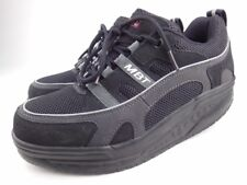 MBT Sport 03 Black Leather Mesh Lace Up Walking Toning Sneakers Sz 7-7.5 38
