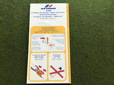 safety card airfrance a310