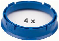 4 x Zentrierring 66.6 mm auf 57.1 mm blau / blue