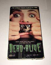 DEAD ALIVE - Rare 1992 Horror VHS - Vidmark UNRATED - Peter Jackson BRAINDEAD