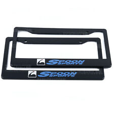 1 pair JDM Universal Spoon Plastic Racing License Plate Frame Tag Cover Holder