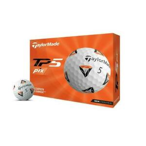 TaylorMade TP5 pix Golf Balls - White, Pack of 12