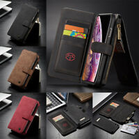 For iPhone 11 Pro Xs Max XR 8+ Genuine CaseMe Magnetic Leather Wallet Case Cover