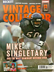 Used Dec/Jan 2021 Beckett Vintage Collector Price Guide Magazine Mike Singletary