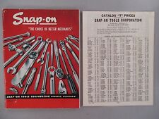 Snap-On Tools CATALOG - 1950 ~~ with its Price List ~~ tools