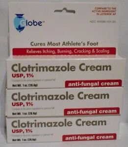 Anti-Fungal Cream for Athletes Foot (Compare to Lotrimin AF) 1oz Tube -3 Pack