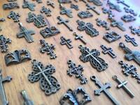 10-100 Bronze Religious Charms for Scrapbooking & Cardmaking