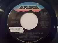 Whitney Houston Where Do Broken Hearts Go / Where You Are 45 1988 Vinyl Record