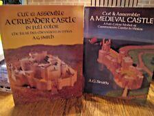 VINTAGE 1984-6 CUT & ASSEMBLE MEDIEVAL CASTLE & CRUSADER CASTLE (2 BOOKS)