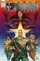 Hasbro Heroes Sourcebook #1 IDW  COVER B Sub VARIANT GI JOE